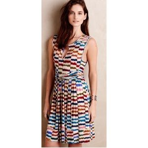 Anthropologie Maeve Striped Multicolor Dress